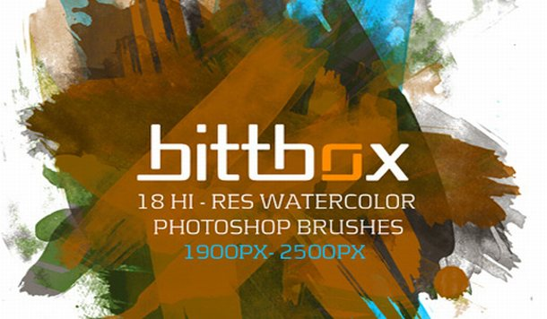 Watercolor Brushes - Photoshop Brushes