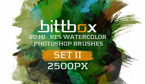 Watercolor Brushes II - Photoshop Brushes