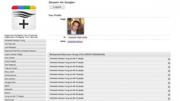 Stream Plus Screenshot - First app for Google+