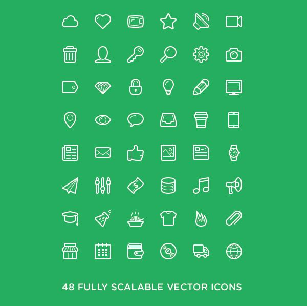 Linecons Icon Set by Designmodo