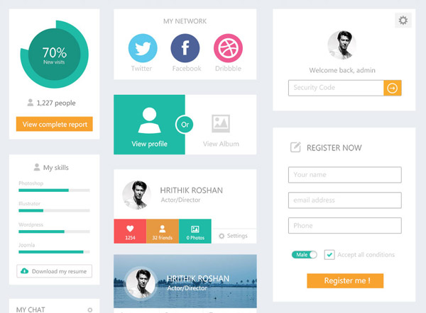 Flat UI Kit by Web Designer Depot