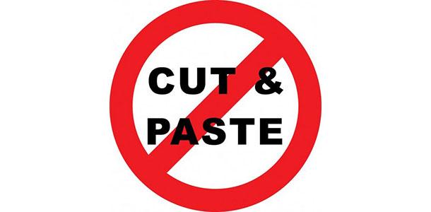 Plagiarism - copy & paste